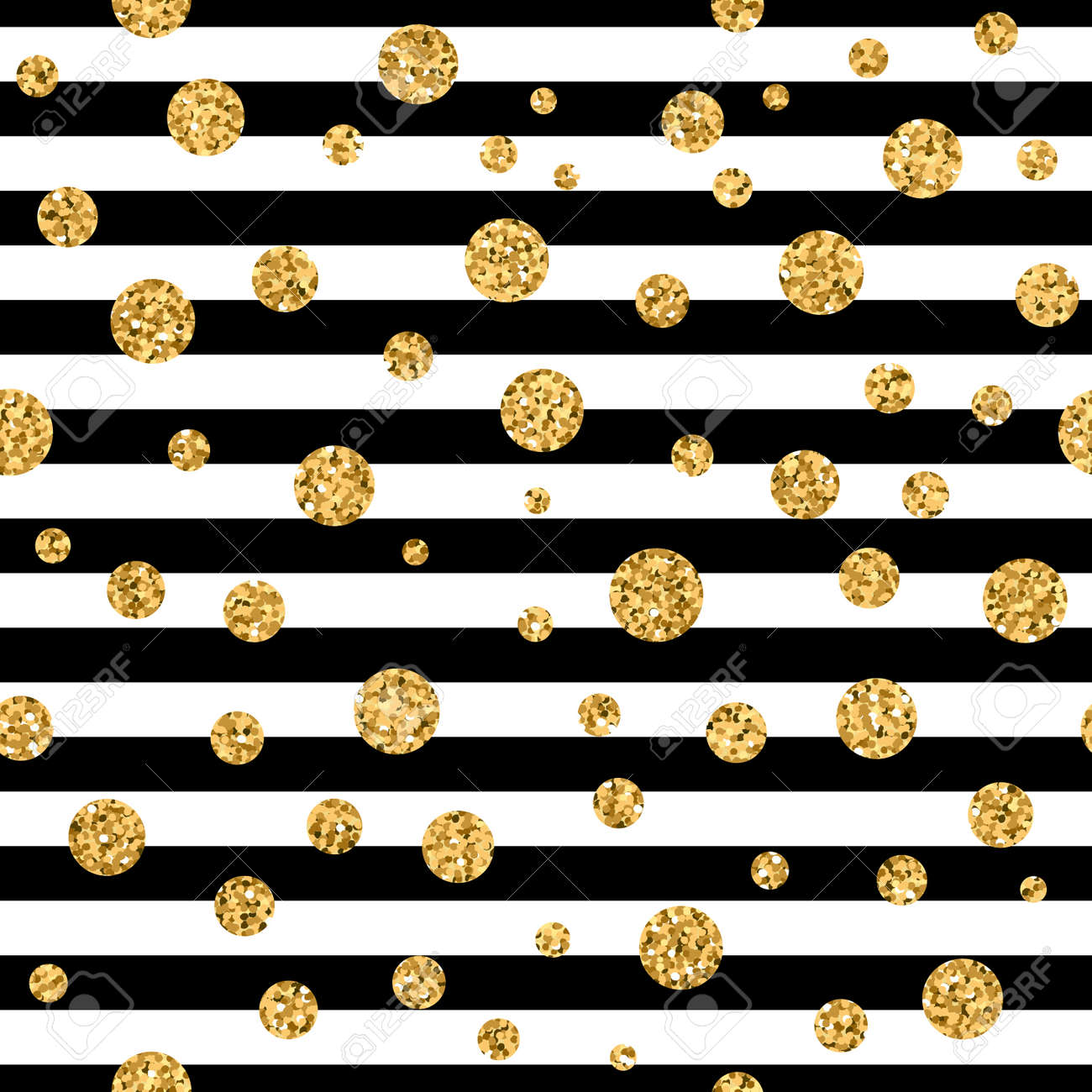 Gold Polka Dot On Lines Seamless Pattern Background Golden Foil Royalty Free Cliparts Vectors And Stock Illustration Image 66276973