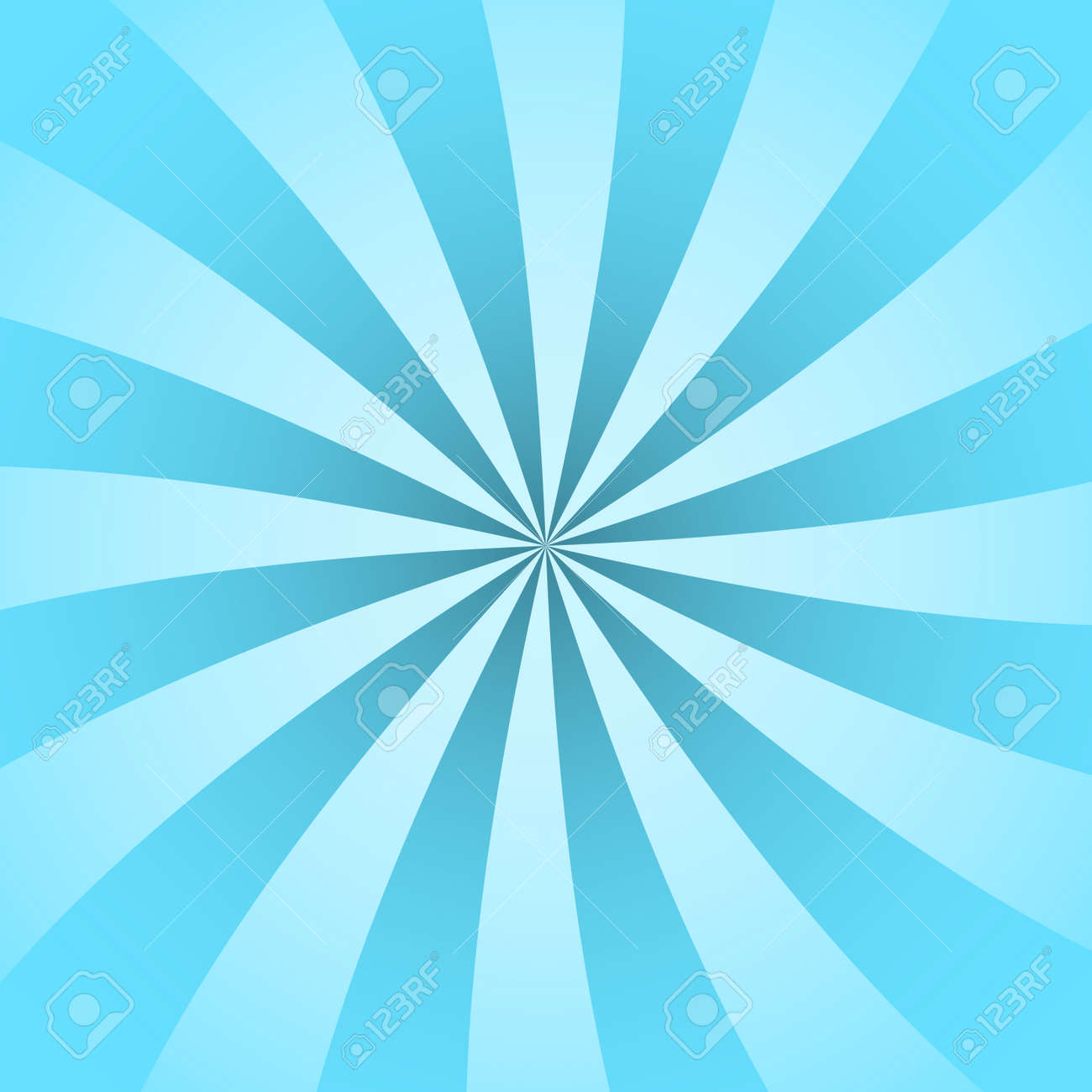 Blue Rays Poster Popular Ray Star Burst Background Television Vintage Dark And