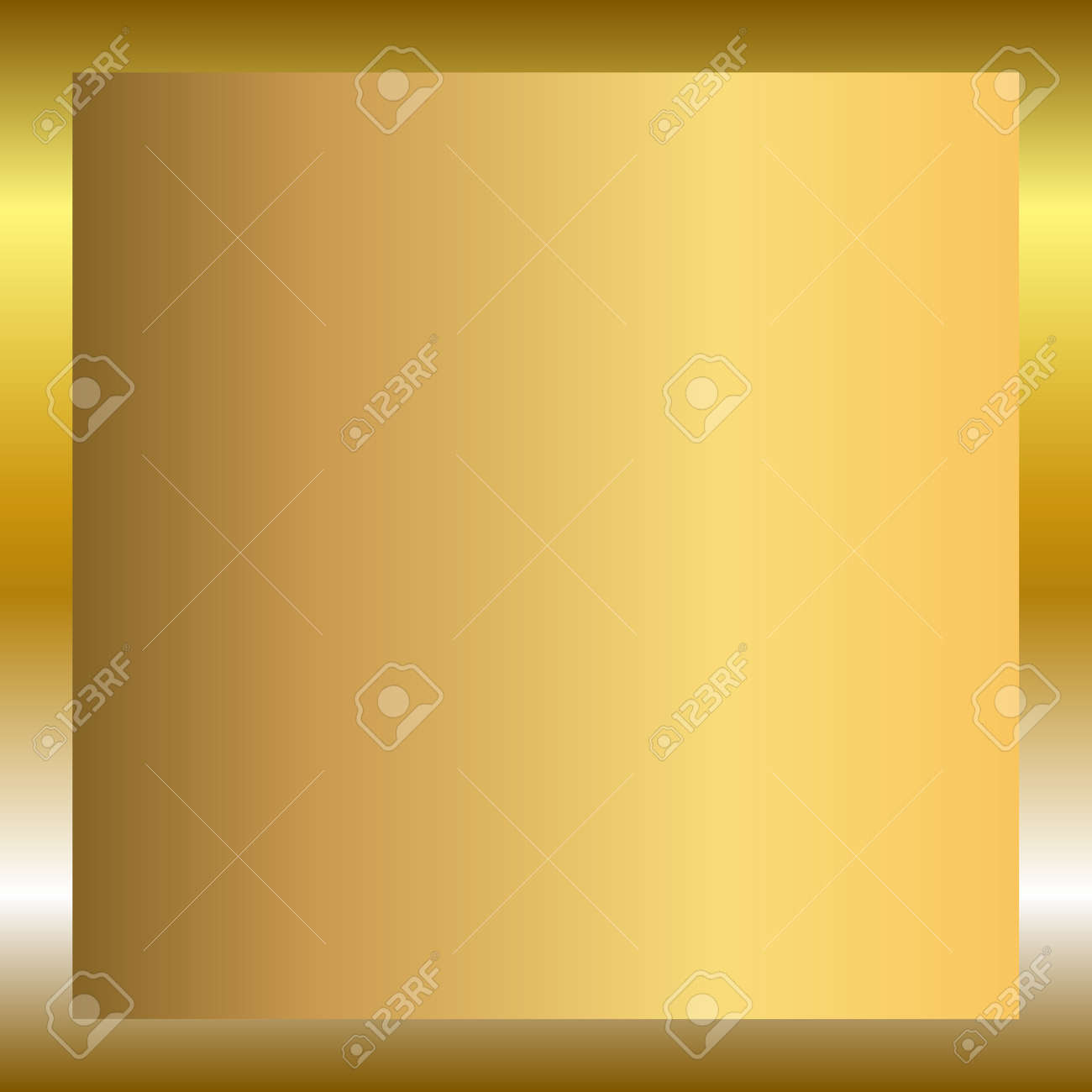 Gold Texture Vertical Square Pattern In Frame. Light Realistic ...