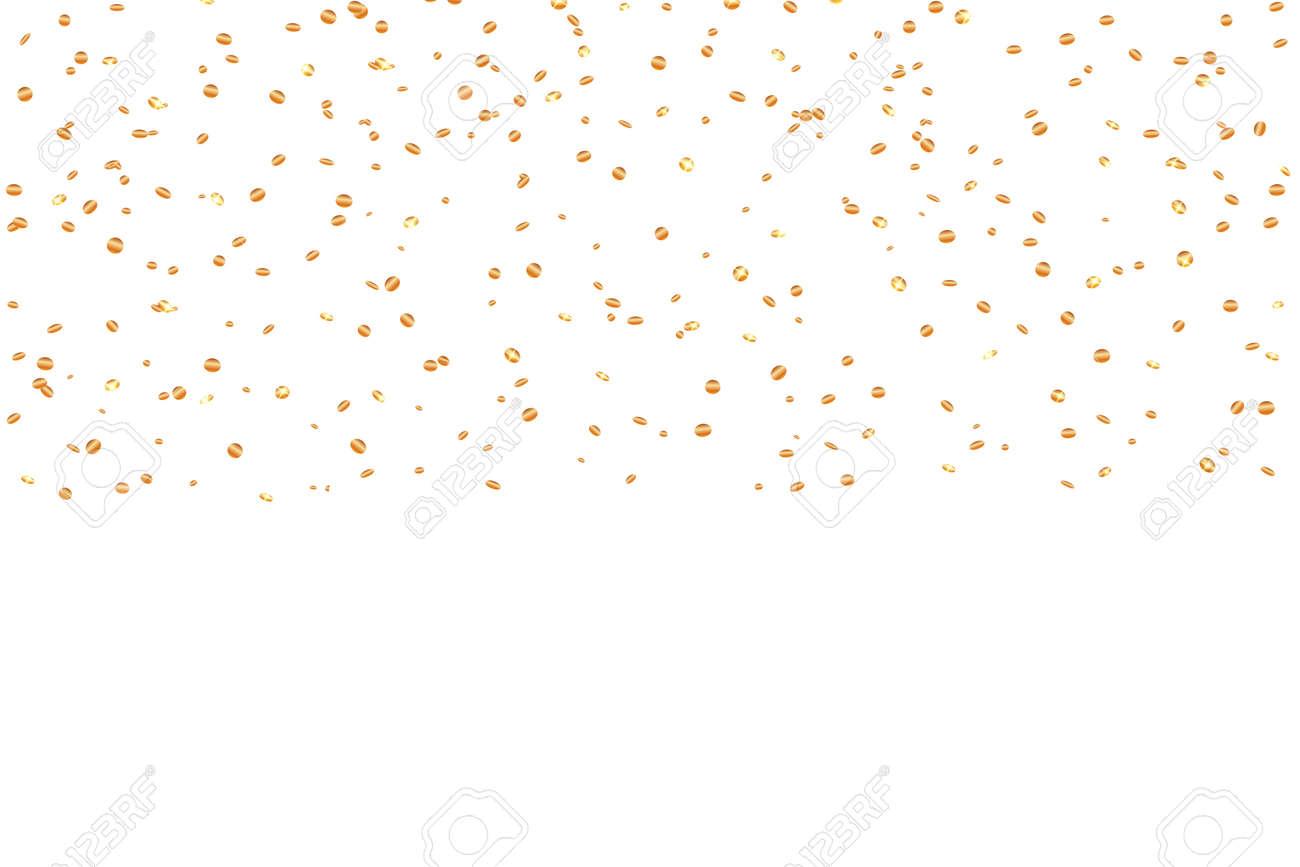 Zilveren Confetti Viering Geisoleerd Op Een Witte Achtergrond
