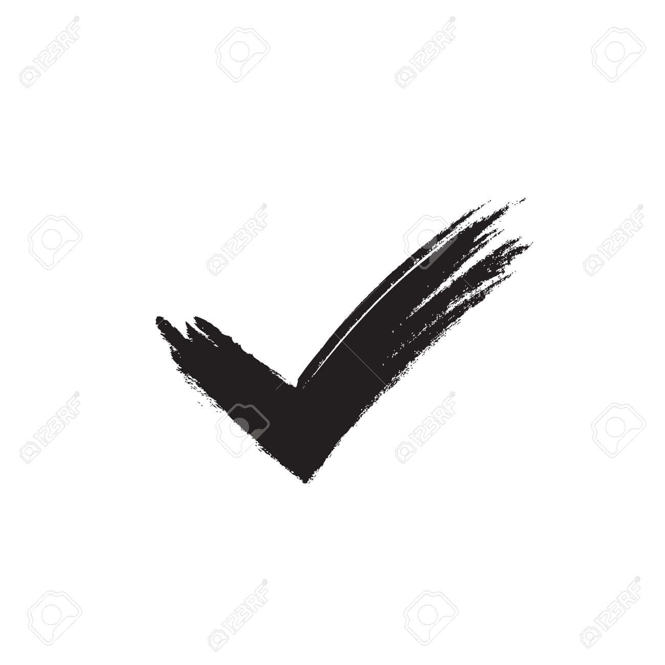 tick sign element black grunge checkmark icon isolated on white rh 123rf com check mark graphic art check mark graphic powerpoint