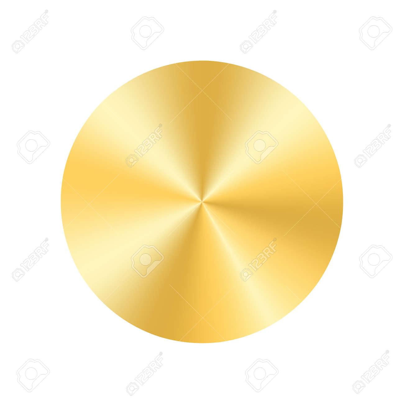 Fondo De La Placa Del Círculo Del Oro. Medalla De Oro Redonda De ...
