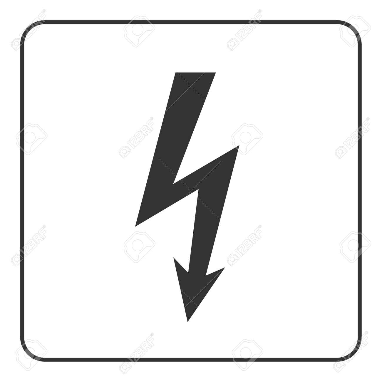 Lightning Icon. Electricity Bolt Sign, Isolated On White Background ...
