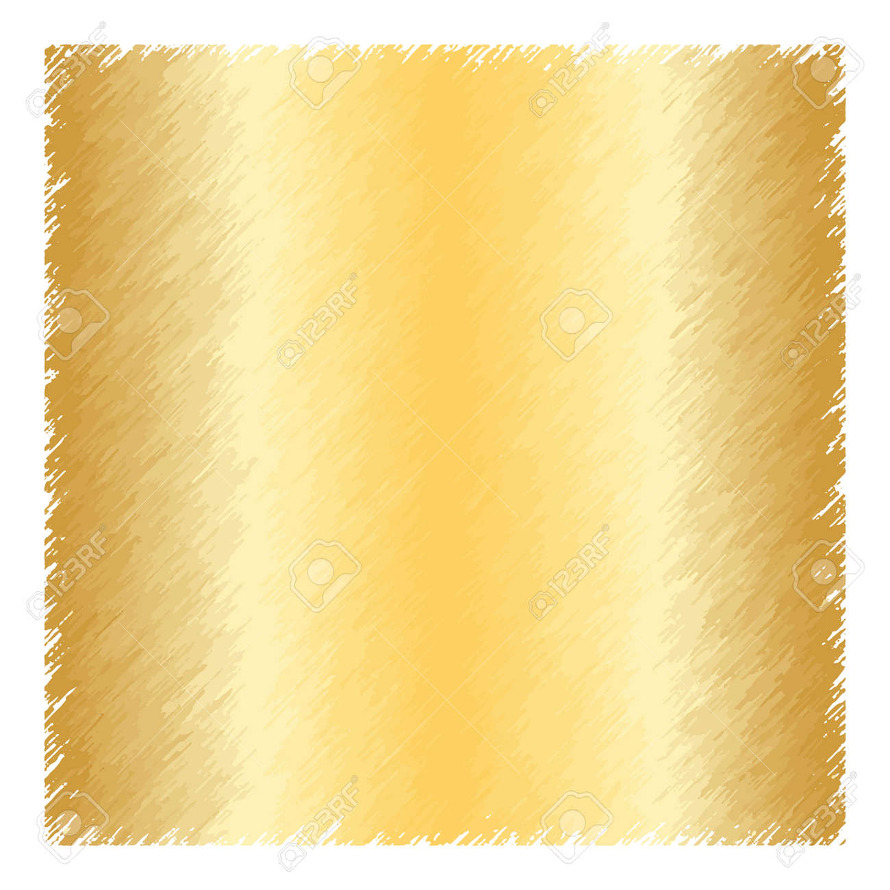 gold glitter texture square border template isolated on white glowing new year merry
