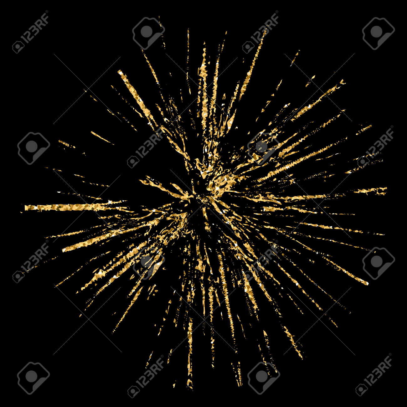 Broken glass hole grunge texture gold and black. Sketch abstract to create distressed effect. Overlay distress golden grain design. Stylish modern background for print products. illustration Stock Photo - 73497081