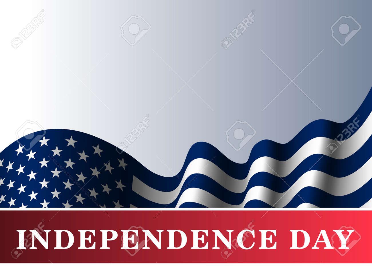 Unabhängigkeitstag USA Hintergrund Mit Flagge. Symbol Der 4. Juli ...