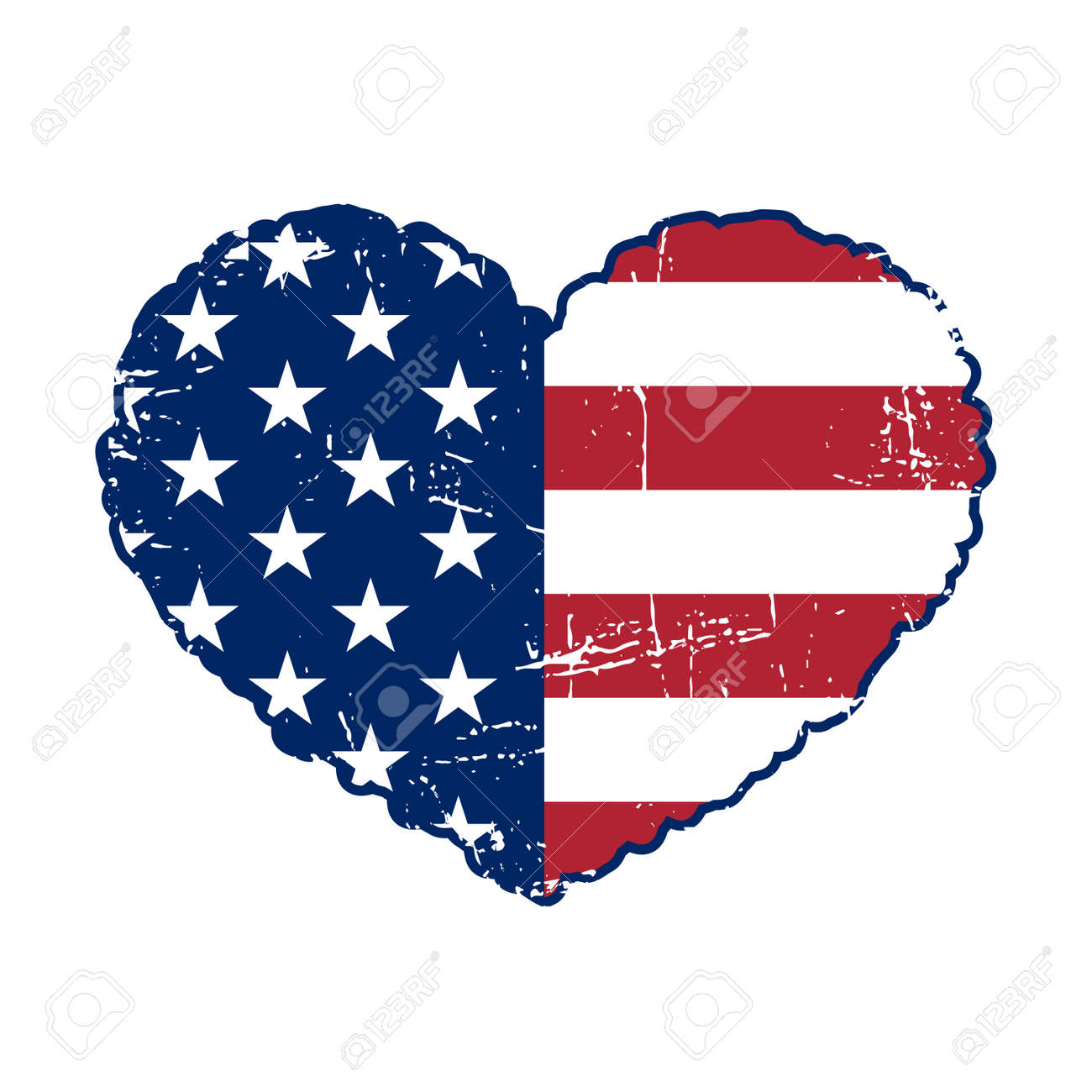 american flag heart shaped on white background patriotic usa rh 123rf com american flag graphics free american flag graphics for motorcycle helmets