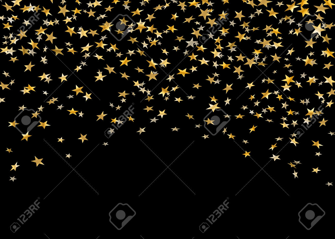 2019 year lifestyle- Gold and Black stars background