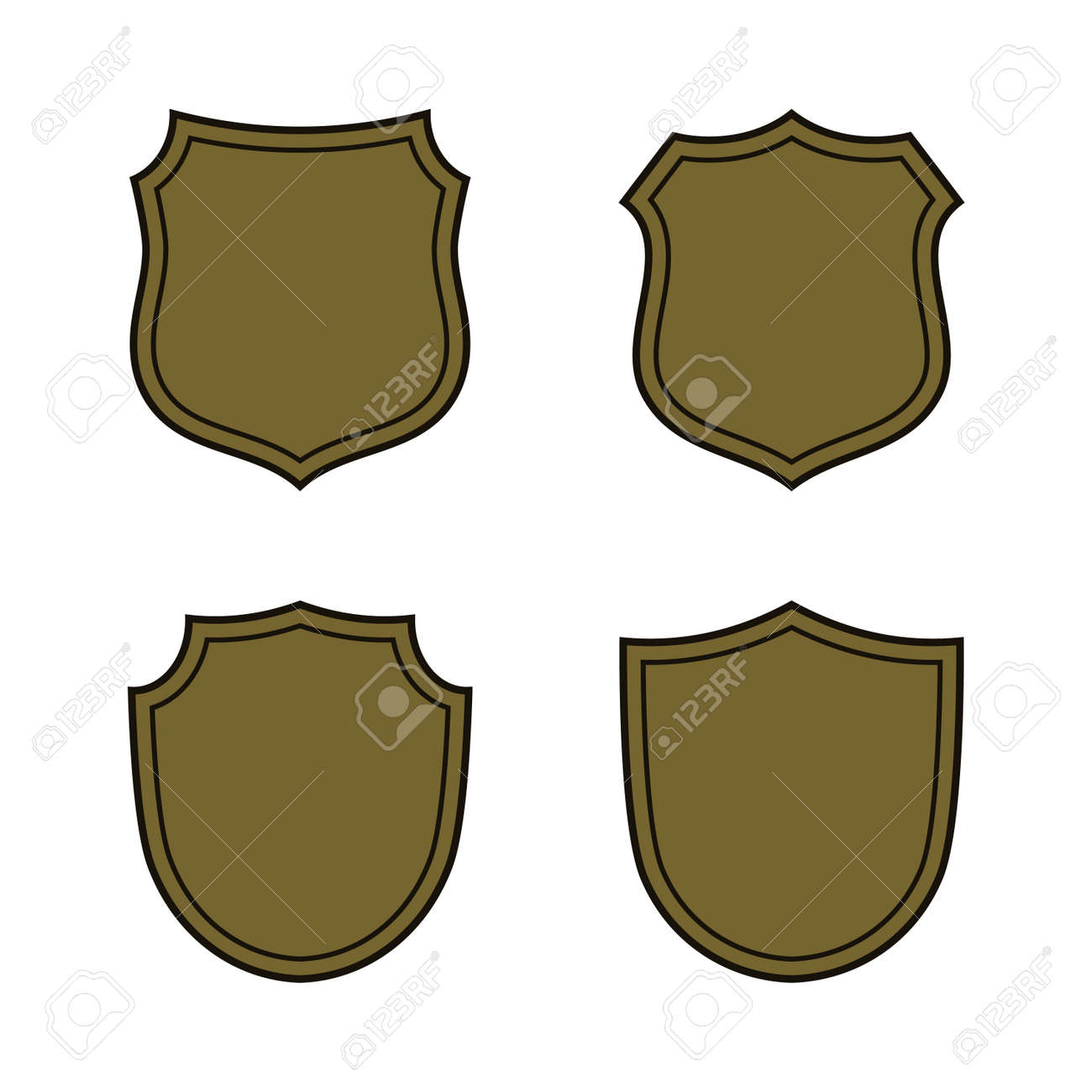 Bronze element symbol image collections symbol and sign ideas shield shape bronze icons set simple silhouette flat logo on shield shape bronze icons set simple urtaz Choice Image