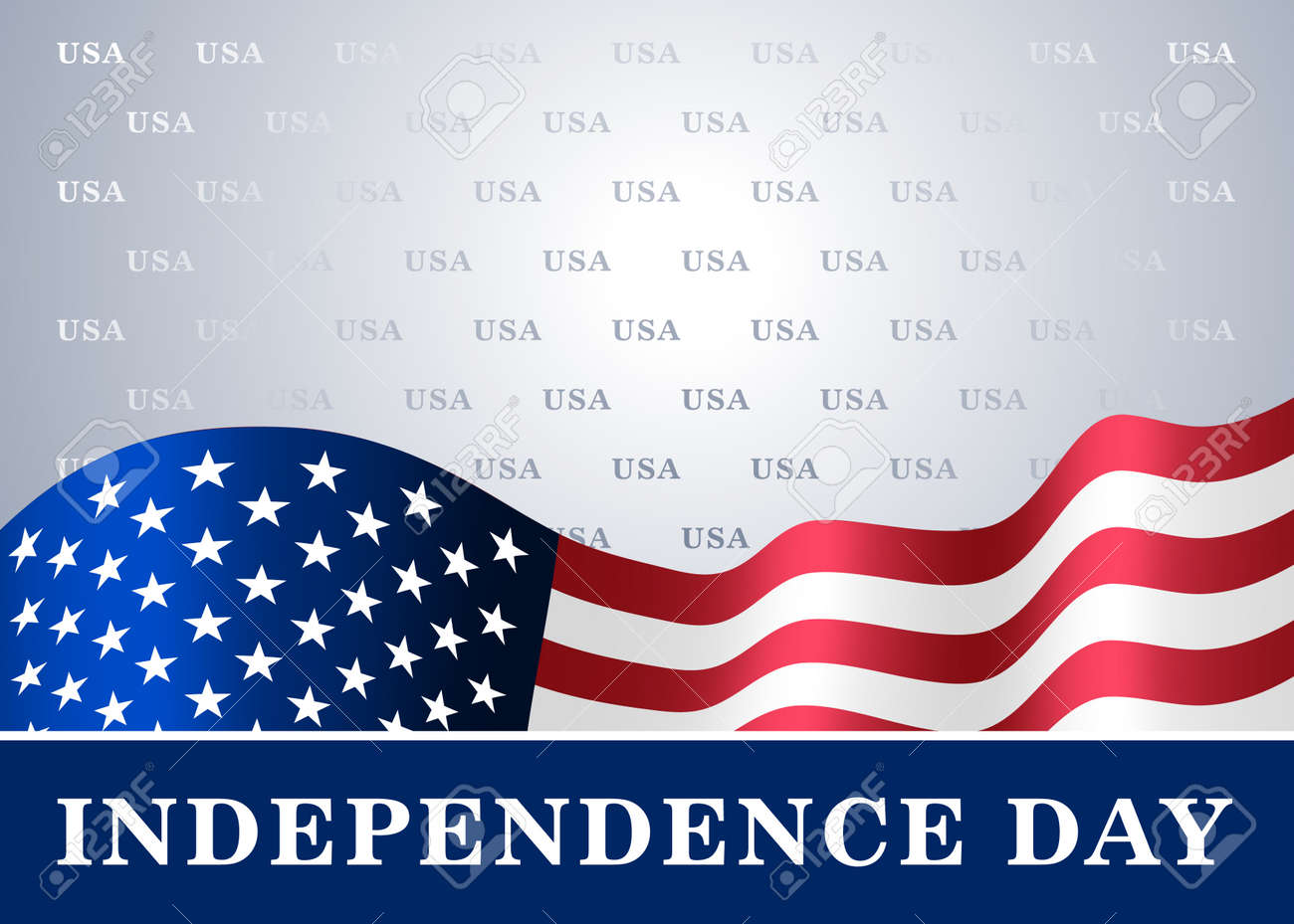 independence day usa background with flag symbol of 4th july