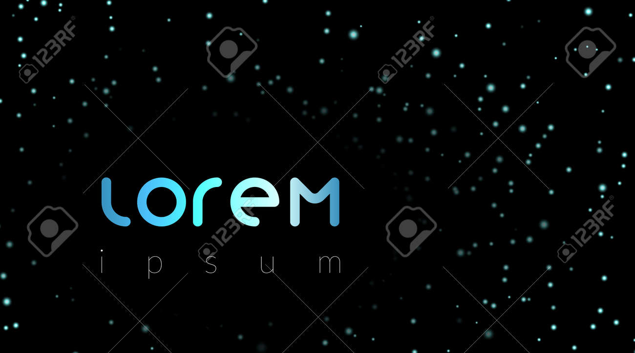 Lorem Ipsum Template With Night Sky Stars For Quote Space Abstract Dark Background Galaxy