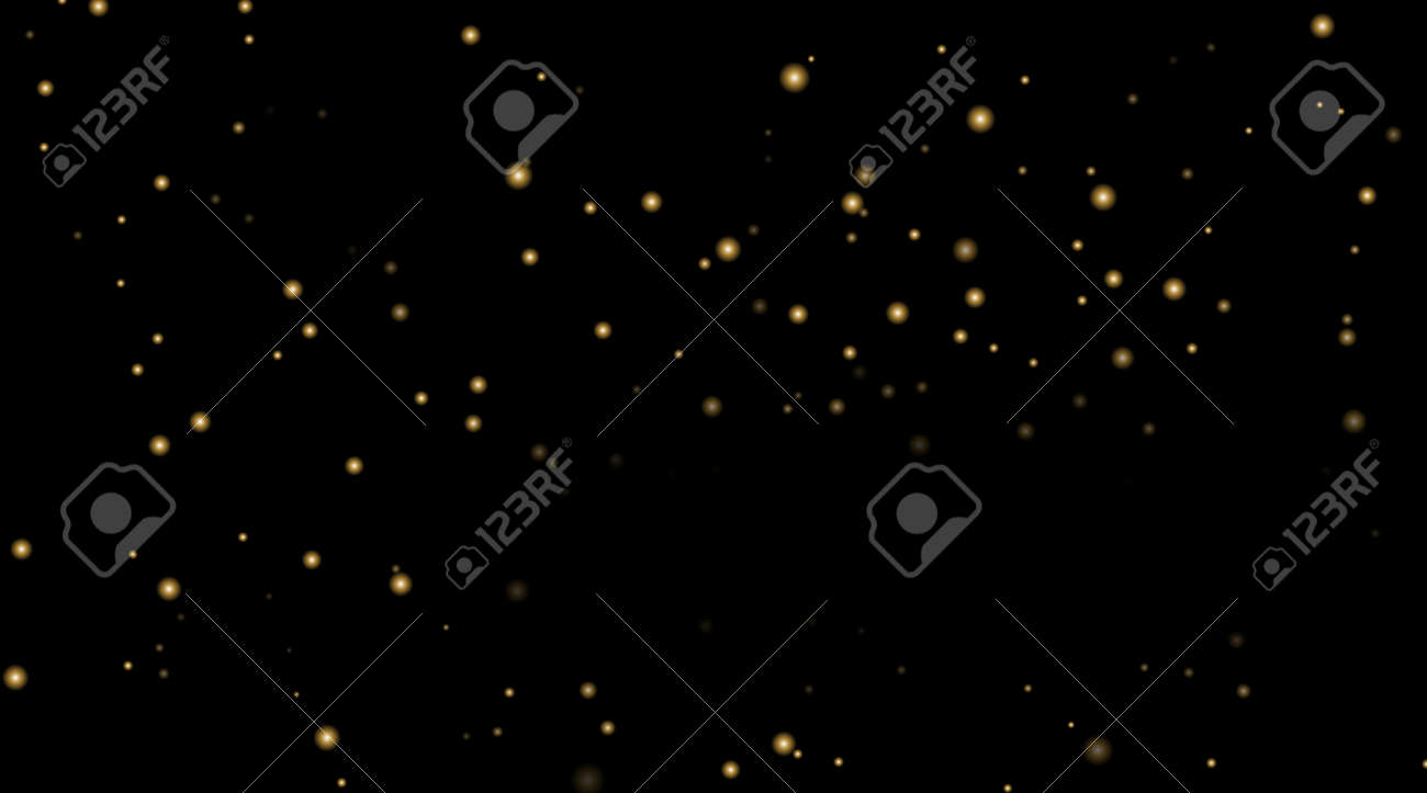 night sky with gold stars on black background dark astronomy
