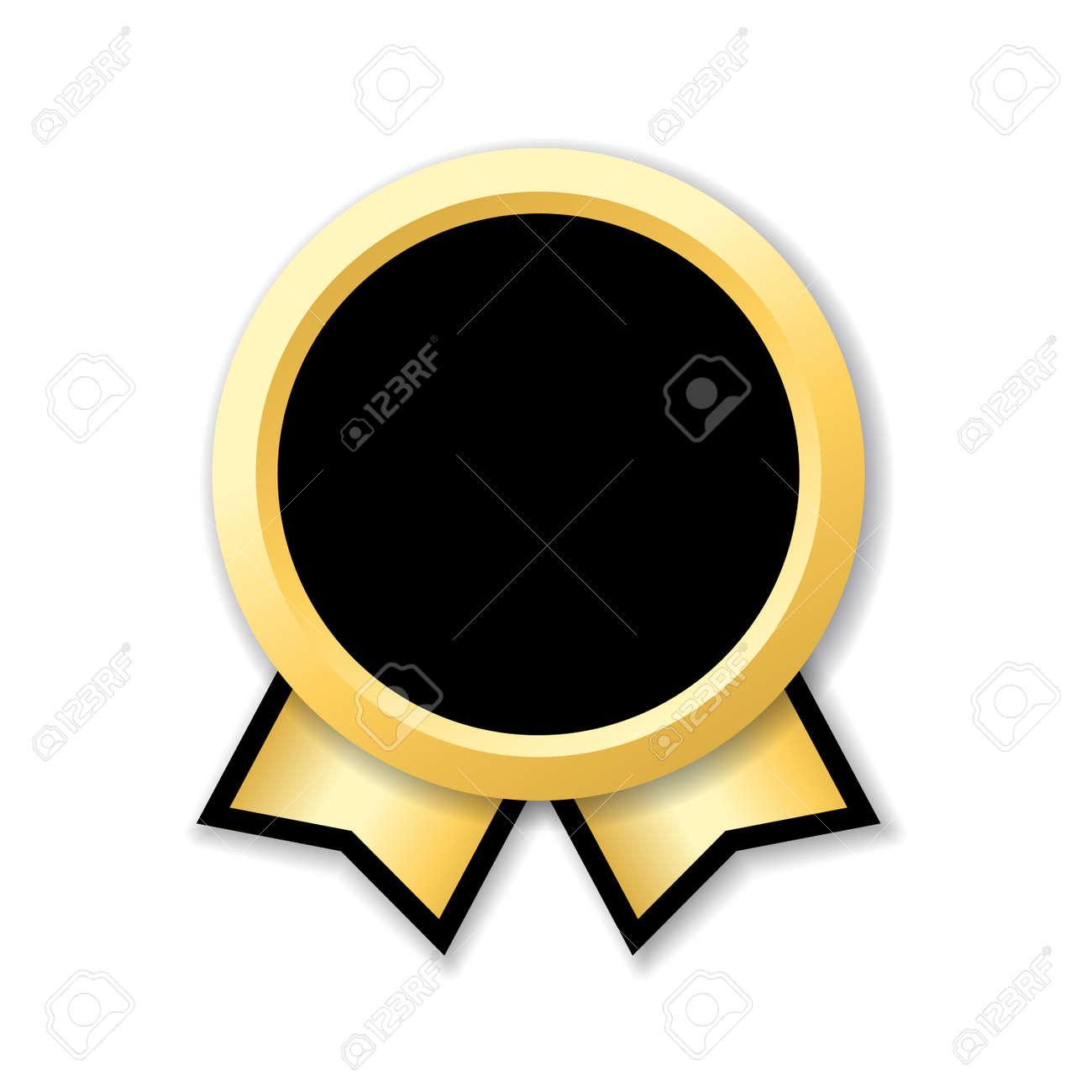 Premio Cinta Aislado. Medalla De Diseño De Oro, Etiqueta, Insignia ...
