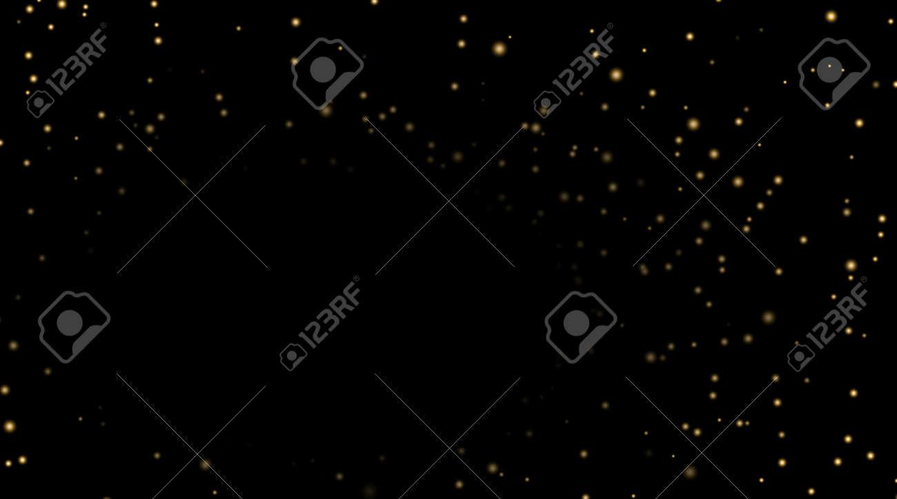 夜空の黒の背景の金の星 暗い天文学領域のテンプレートです 銀河の