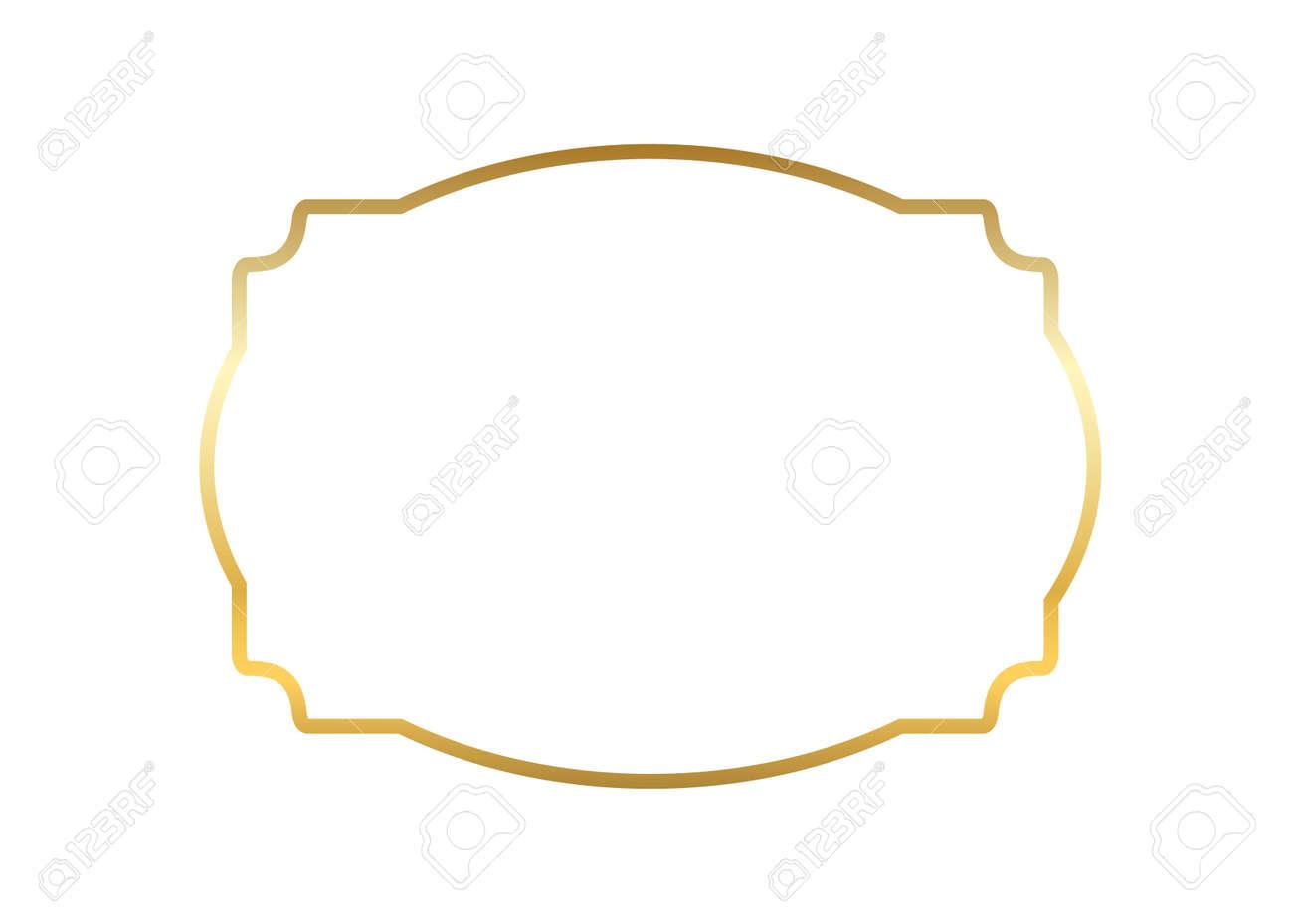Cornice Oro Bella Semplice Design Dorato Priorita Bassa Decorativa