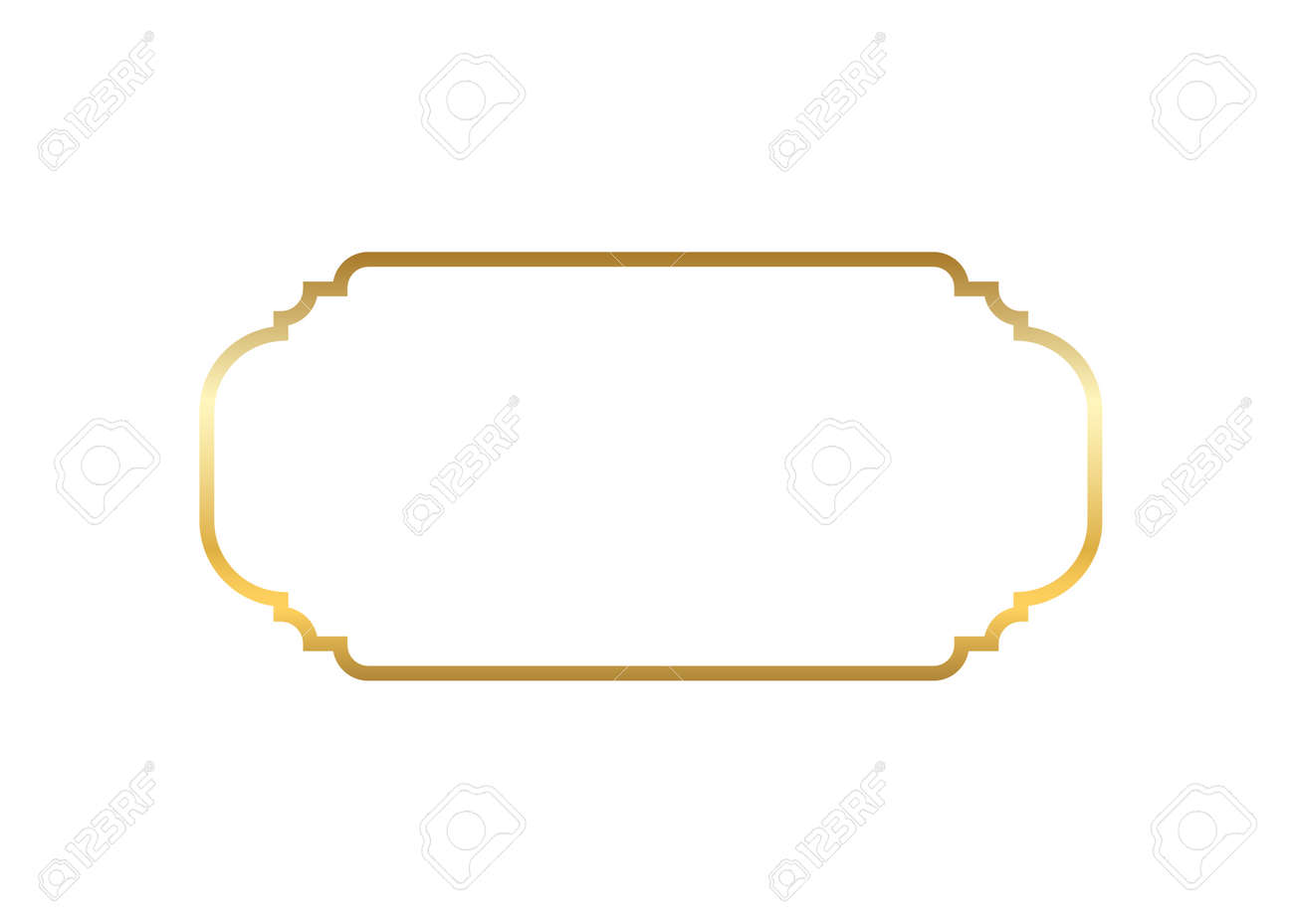 8832f7a7a7d8 Gold frame. Beautiful simple golden design. Vintage style decorative border  isolated white background.