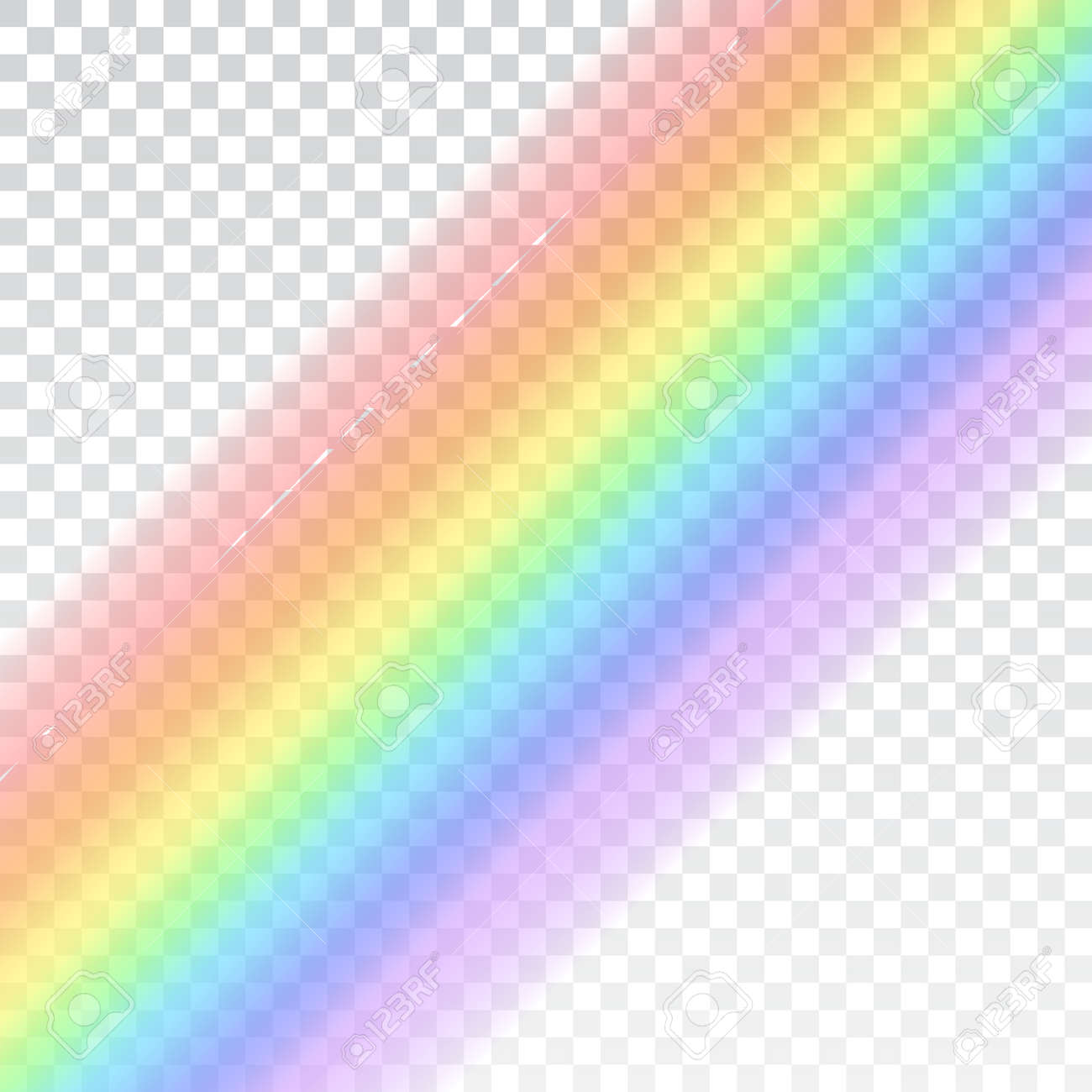 Rainbow Icon Shape Realistic Isolated On White Transparent Background Colorful Light And Bright Design