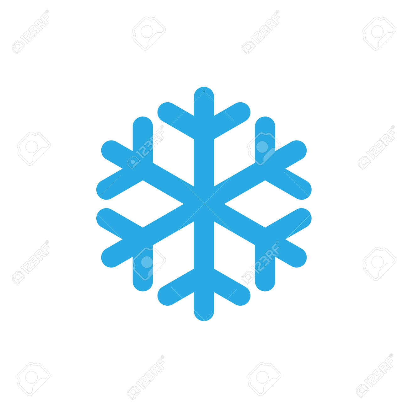 snowflake icon blue silhouette snow flake sign isolated on rh 123rf com snowflake vector line art snowflake background vector art free