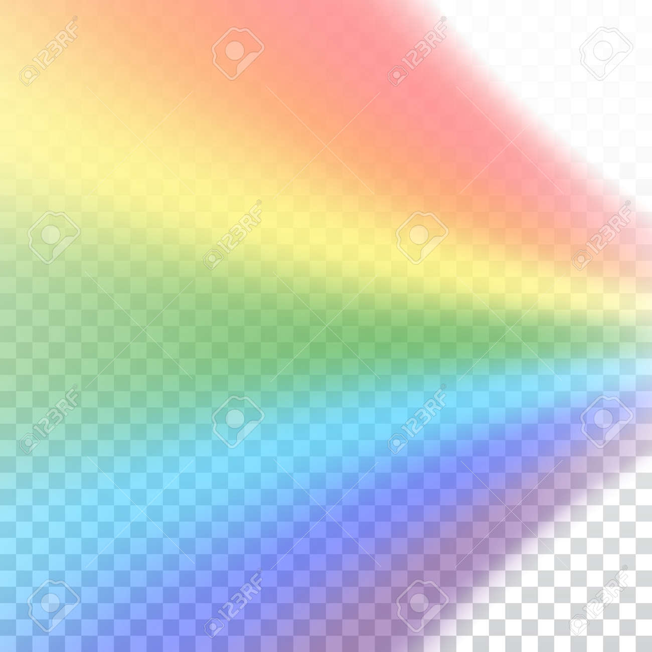 Rainbow Icon Shape Realistic Isolated On White Transparent Background Colorful Light And Bright
