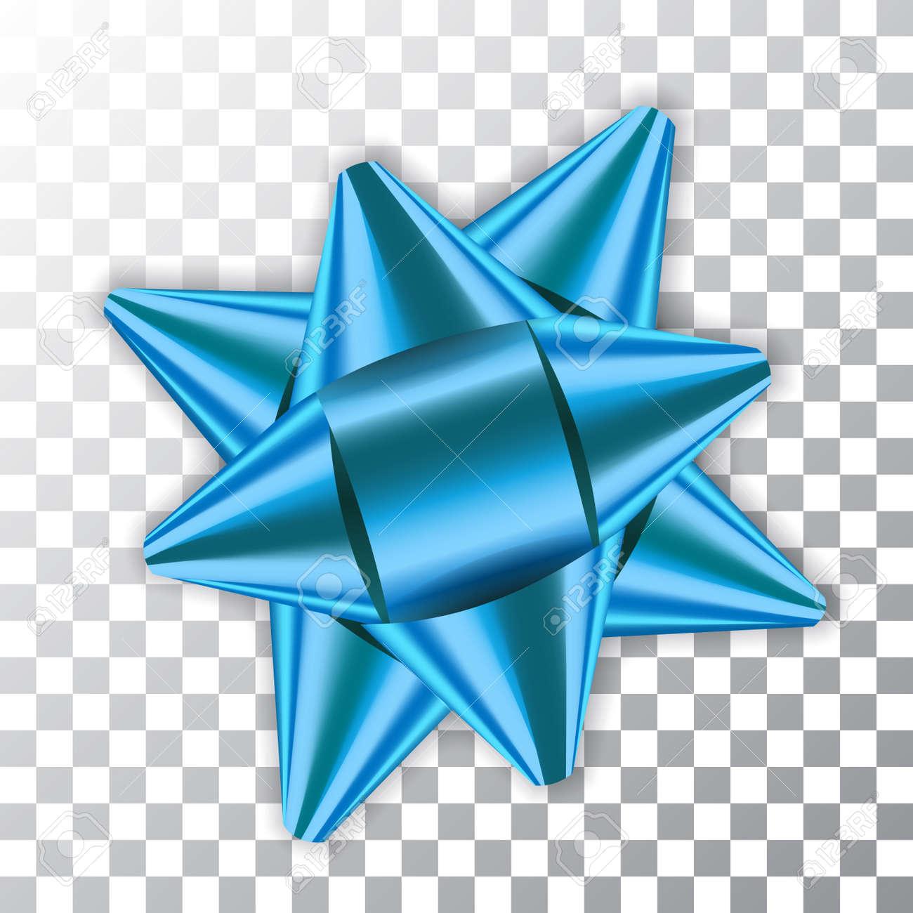 Decoration De Paquets Cadeaux bleu arc ruban décor élément paquet brillant couleur satin décoration  cadeau présent isolé fond transparent blanc. célébration de noël nouvel an,