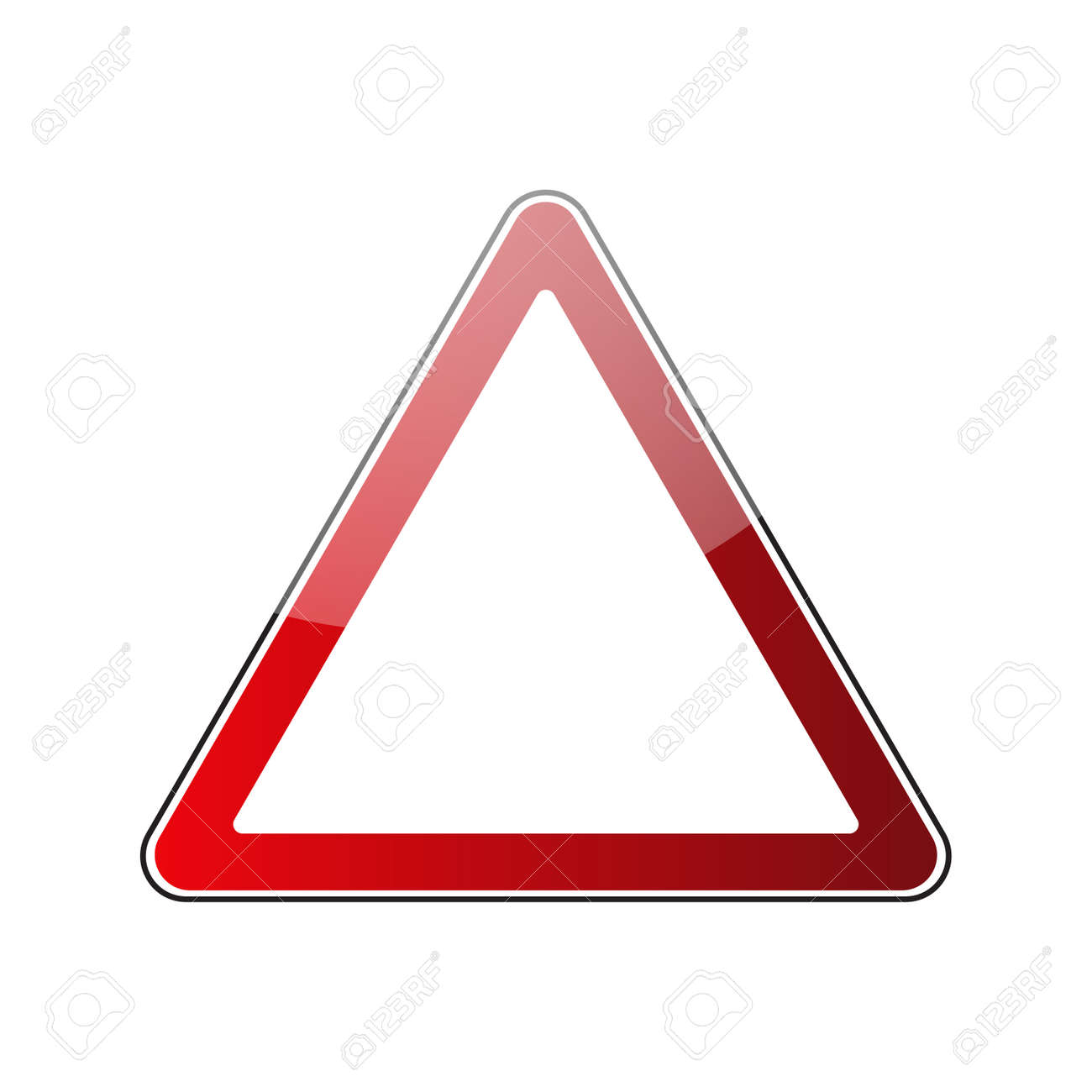 Triangle Warning Sign Blank Danger Red Triangular Road Sign