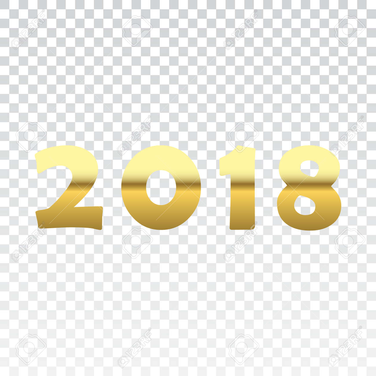 happy new year golden numbers gold numbers 2018 on white transparent background christmas and