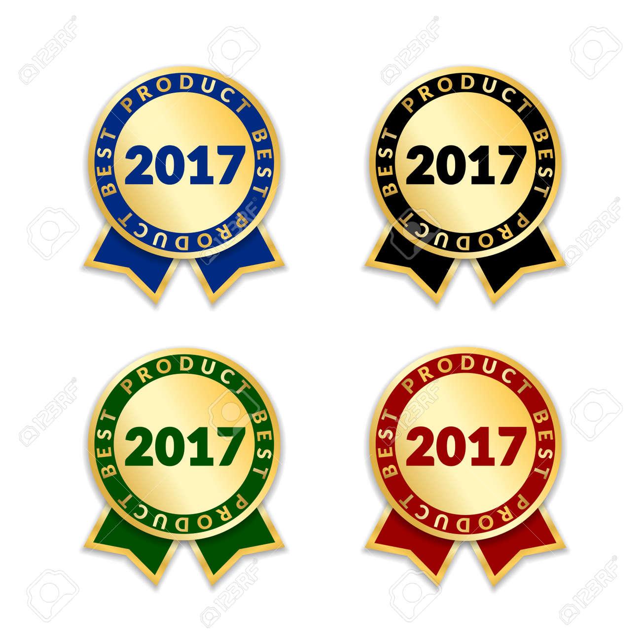 ribbons award best product of year 2017 set gold ribbon award