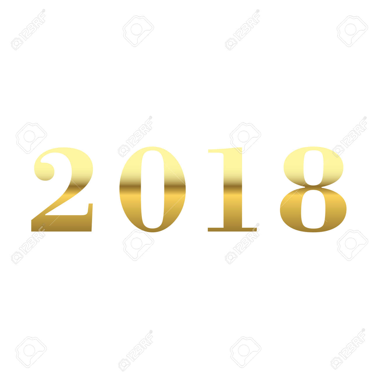happy new year golden numbers gold numbers 2018 on white background christmas and new