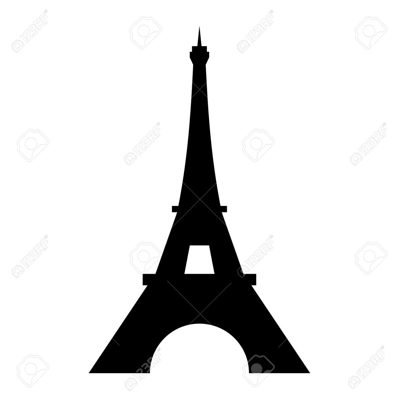 Eiffel Tower Logo Icon Old Style Symbol French Paris Holiday Royalty Free Cliparts Vectors And Stock Illustration Image 109937287