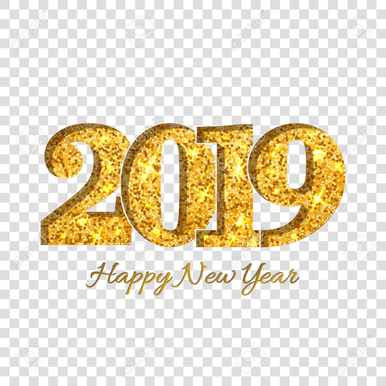 Happy New Year Transparent Background 21