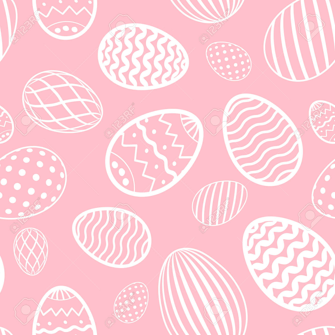 Easter Egg Seamless Pattern Pastel Color Holiday Eggs Texture