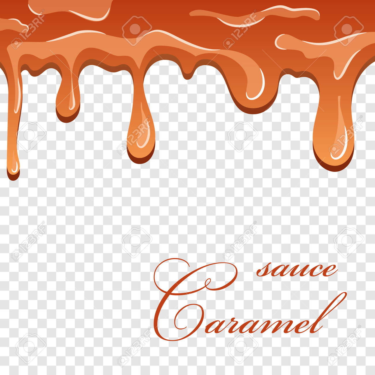 Caramel Sauce 3d Flowing Caramel Liquid Isolated White Transparent Royalty Free Cliparts Vectors And Stock Illustration Image 129343635
