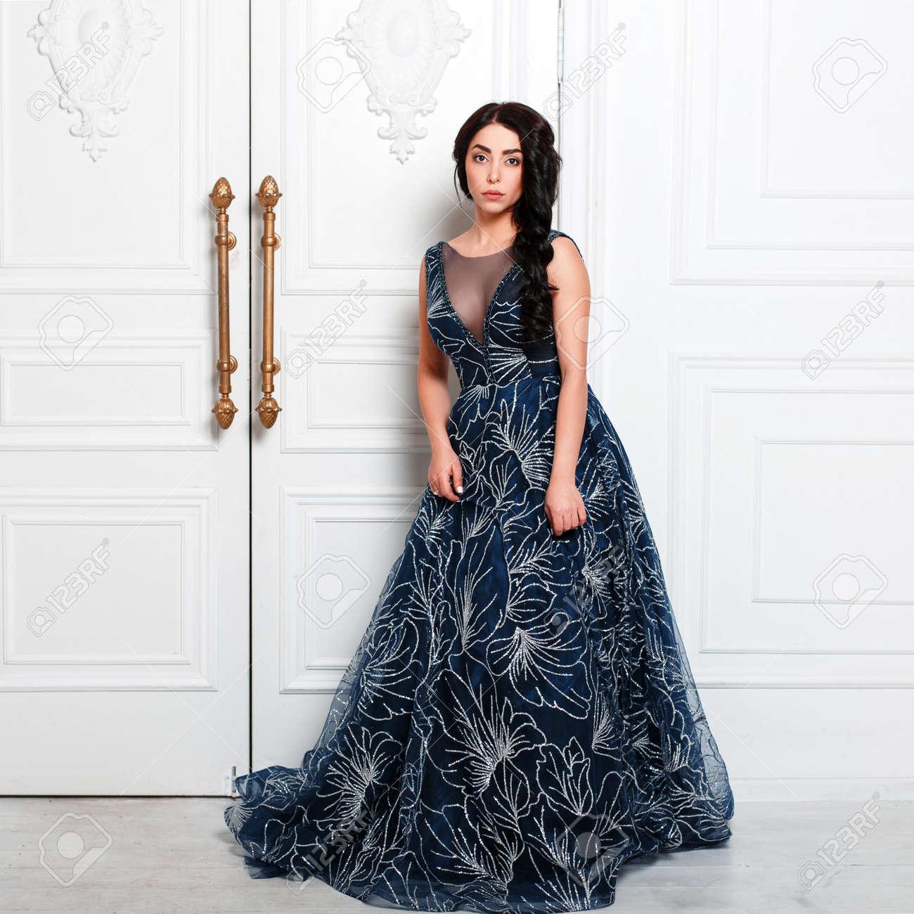 Beautiful young girl in a stylish elegant
