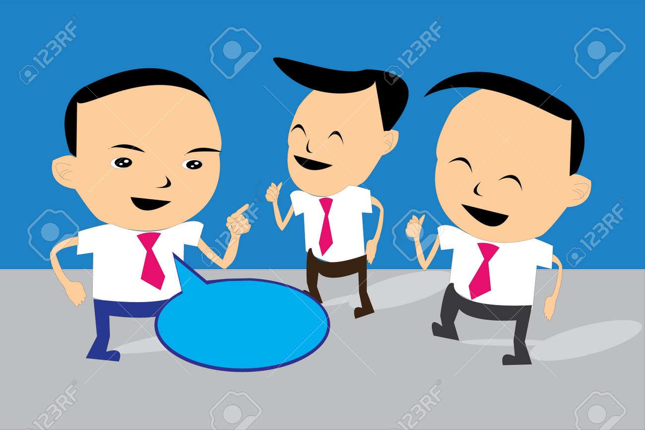 the communication of business man Stock Vector - 22236410