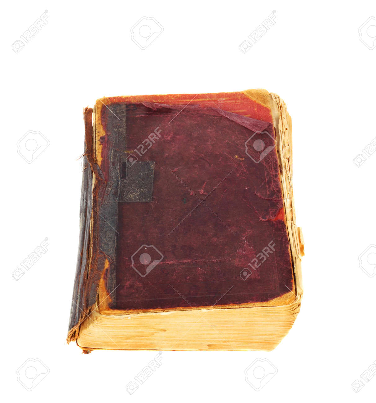 Vintage book in a bad condition isolated on white background Stock Photo - 17218276