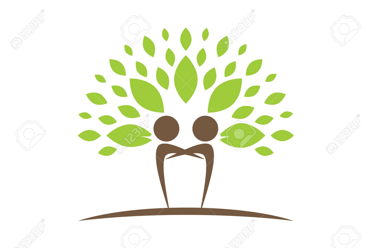 Creative Colorful Tree Human Concept Royalty Free Cliparts, Vectors ...