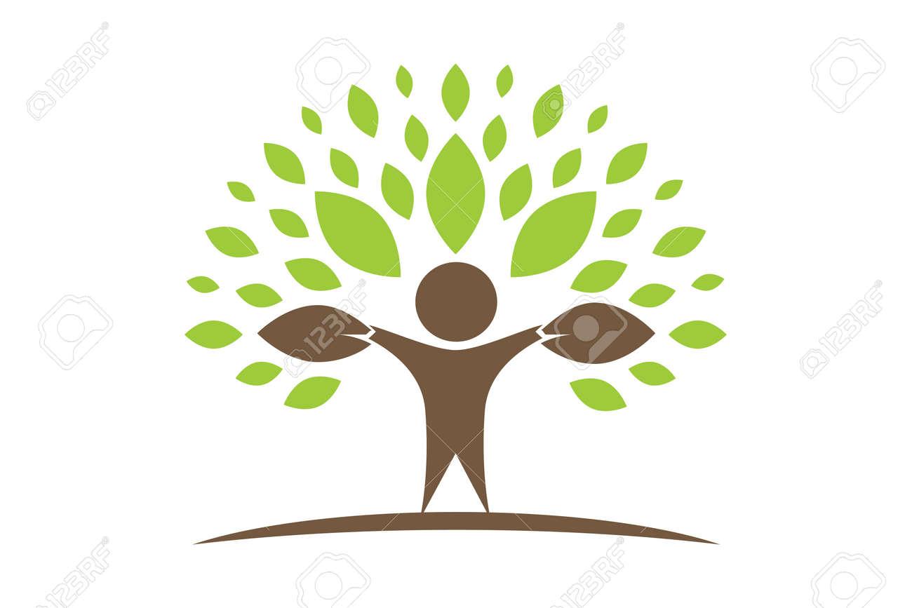 Creative Colorful Tree Human Concept Royalty Free Cliparts, Vectors ...