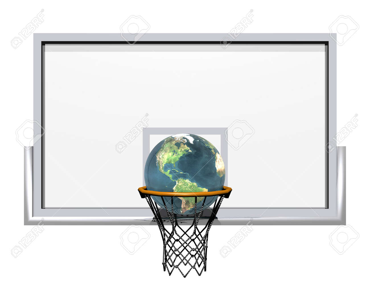 3d basketball isolated on a white background Stock Photo - 3840789