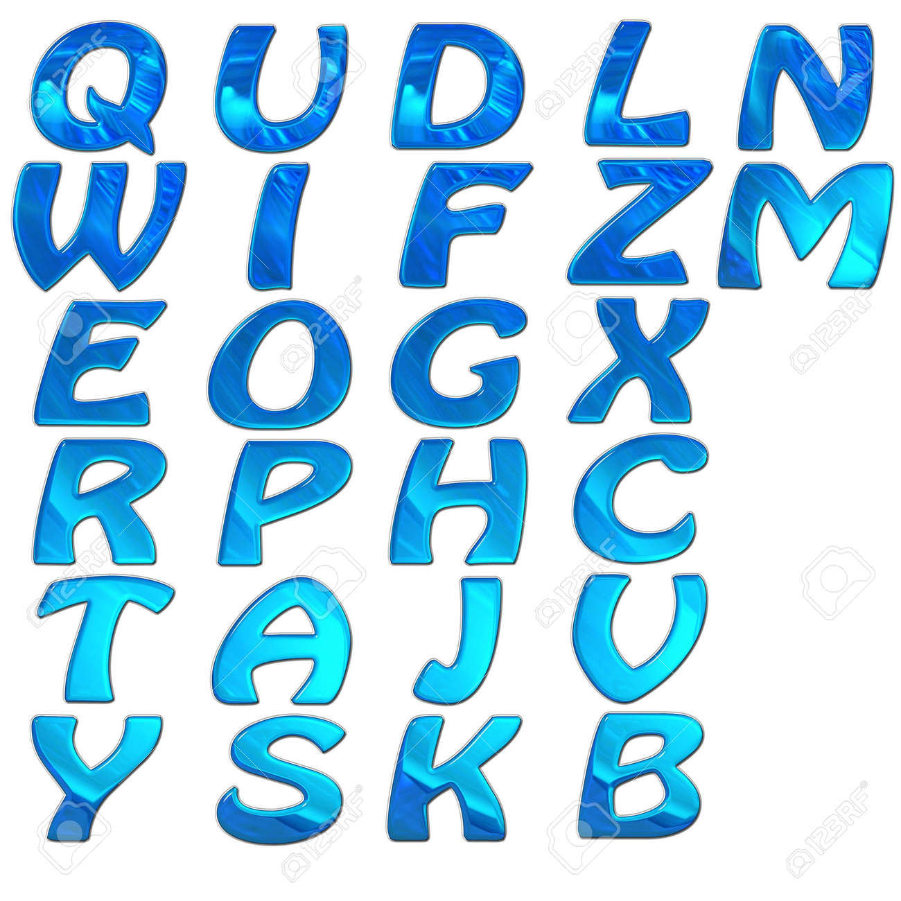 set of 3d bright alphabet isolated on white Stock Photo - 3840777