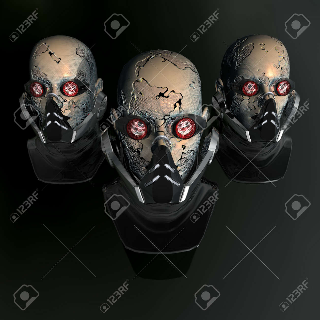 cyborg head, robot Stock Photo - 3855739