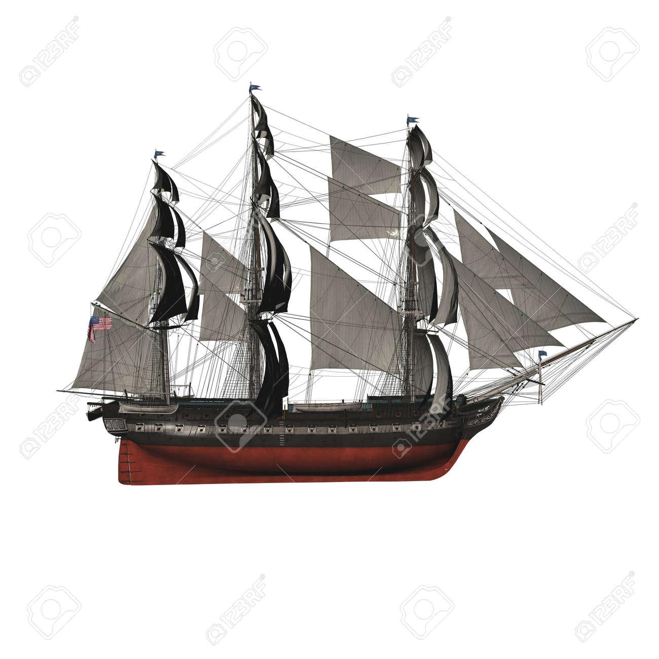 Sailing vessel in the sea Stock Photo - 4316730