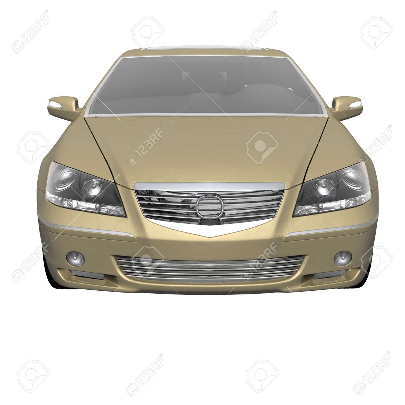 luxury expensive car isolated on a white Stock Photo - 4535261