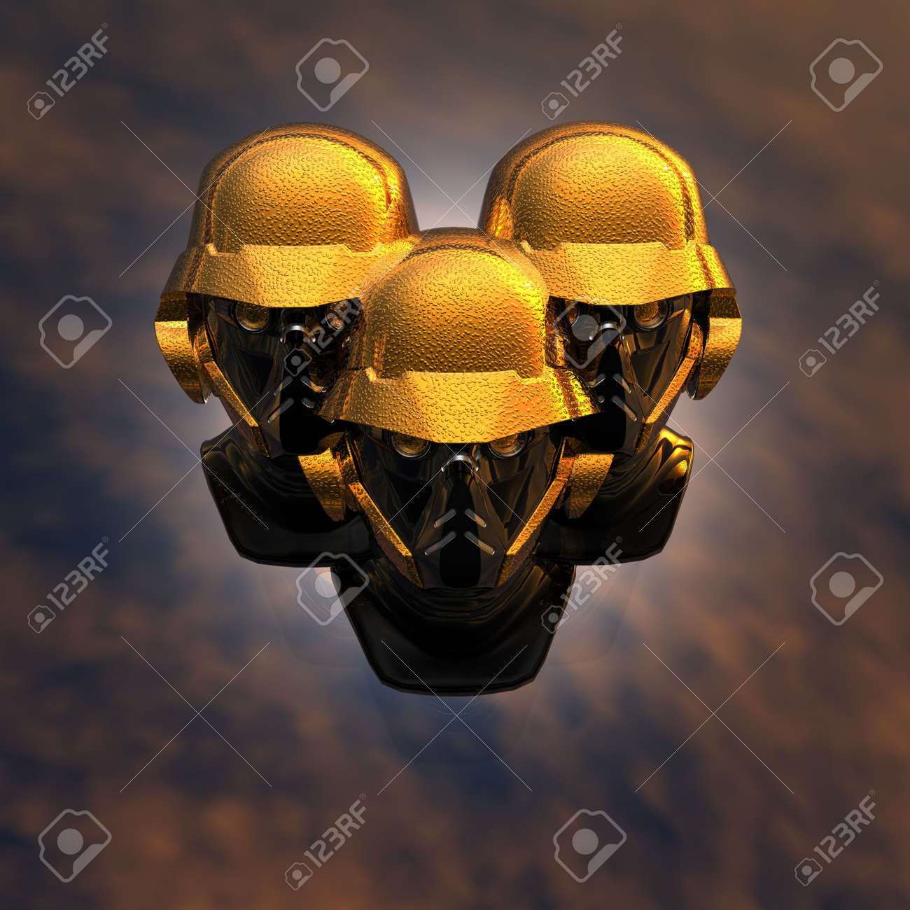 cyborg head, robot Stock Photo - 5081376