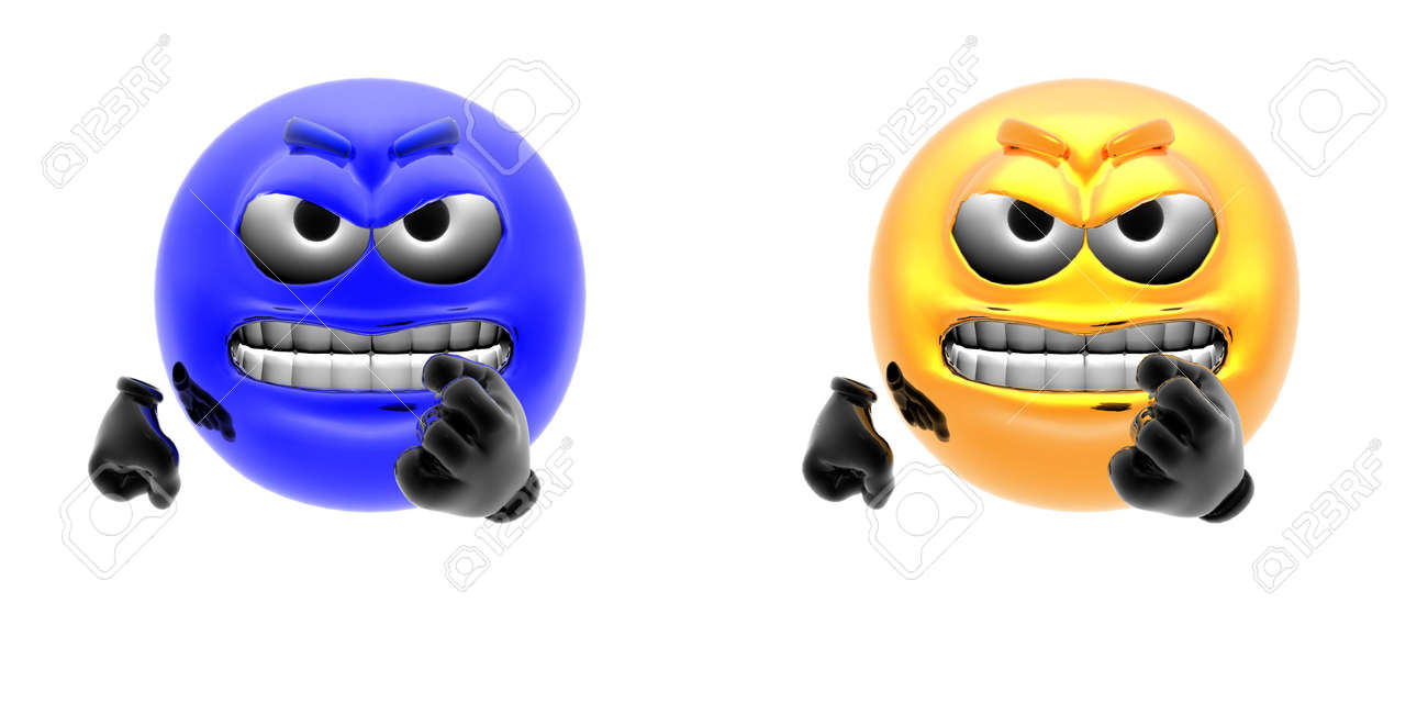 emotion icons isolated on a white Stock Photo - 5973831