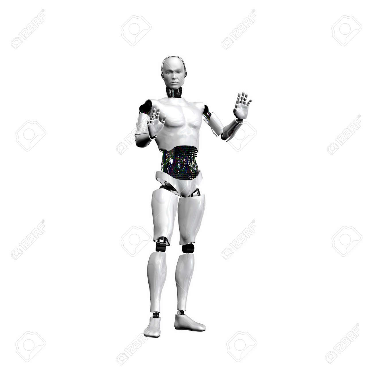 android, cybernetic intelligence machine in 3d Stock Photo - 6517665