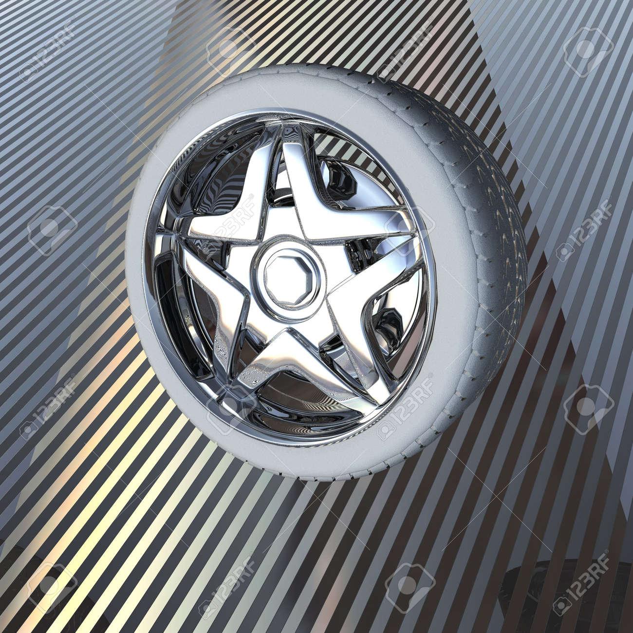tire wheel concept 3D render Stock Photo - 6880442