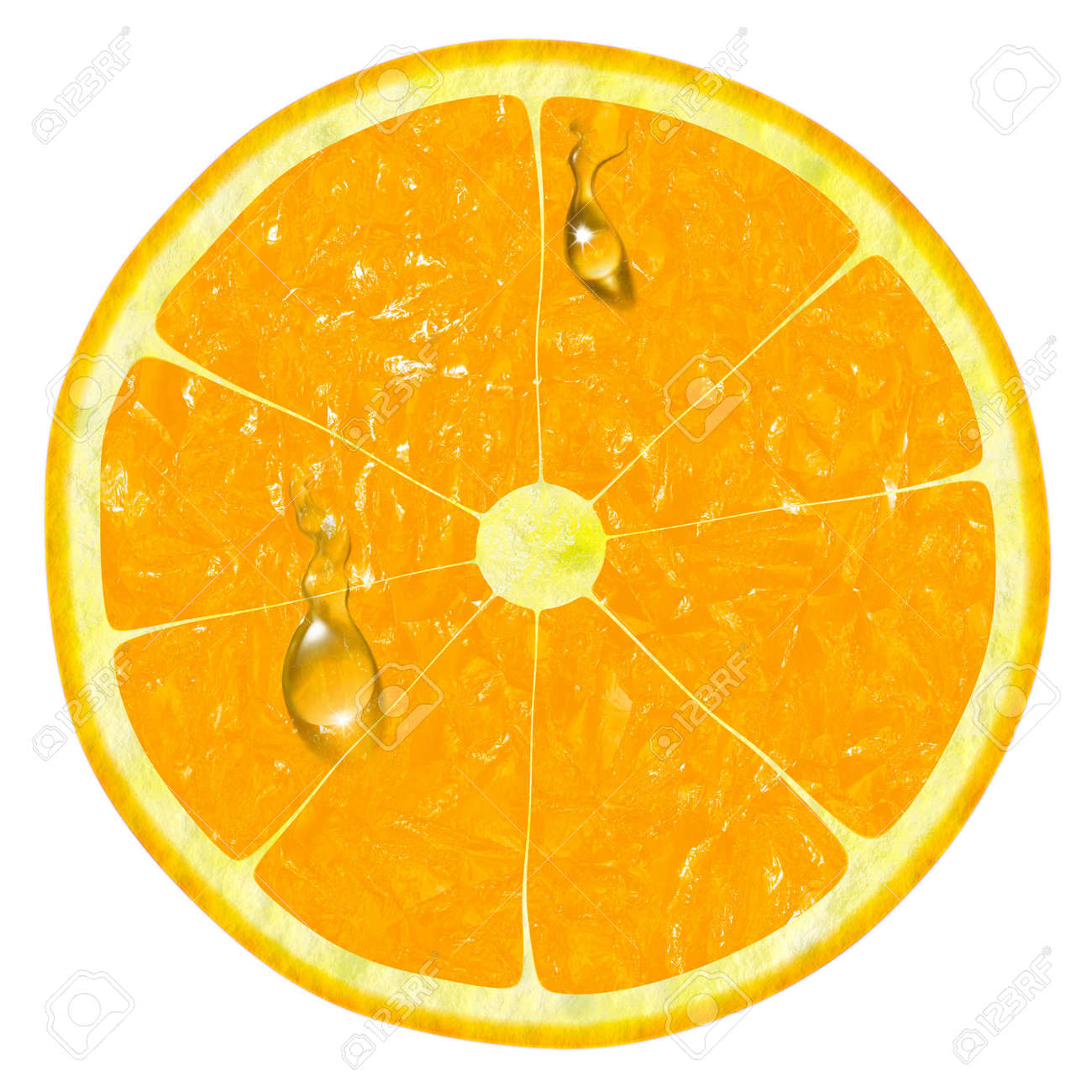 orange slice isolated on a white background Stock Photo - 6880415