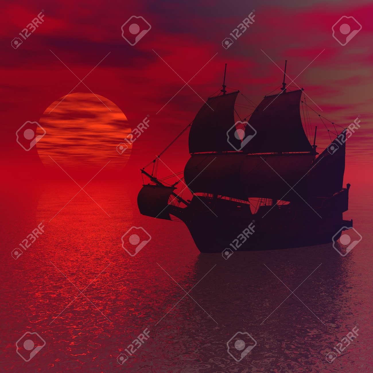 Sailing vessel in the sea Stock Photo - 6984872