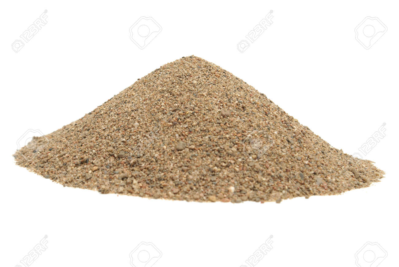 An isolated shot of a pile of sand to use in a garden, sandbox, or some other place. Stock Photo - 9779429