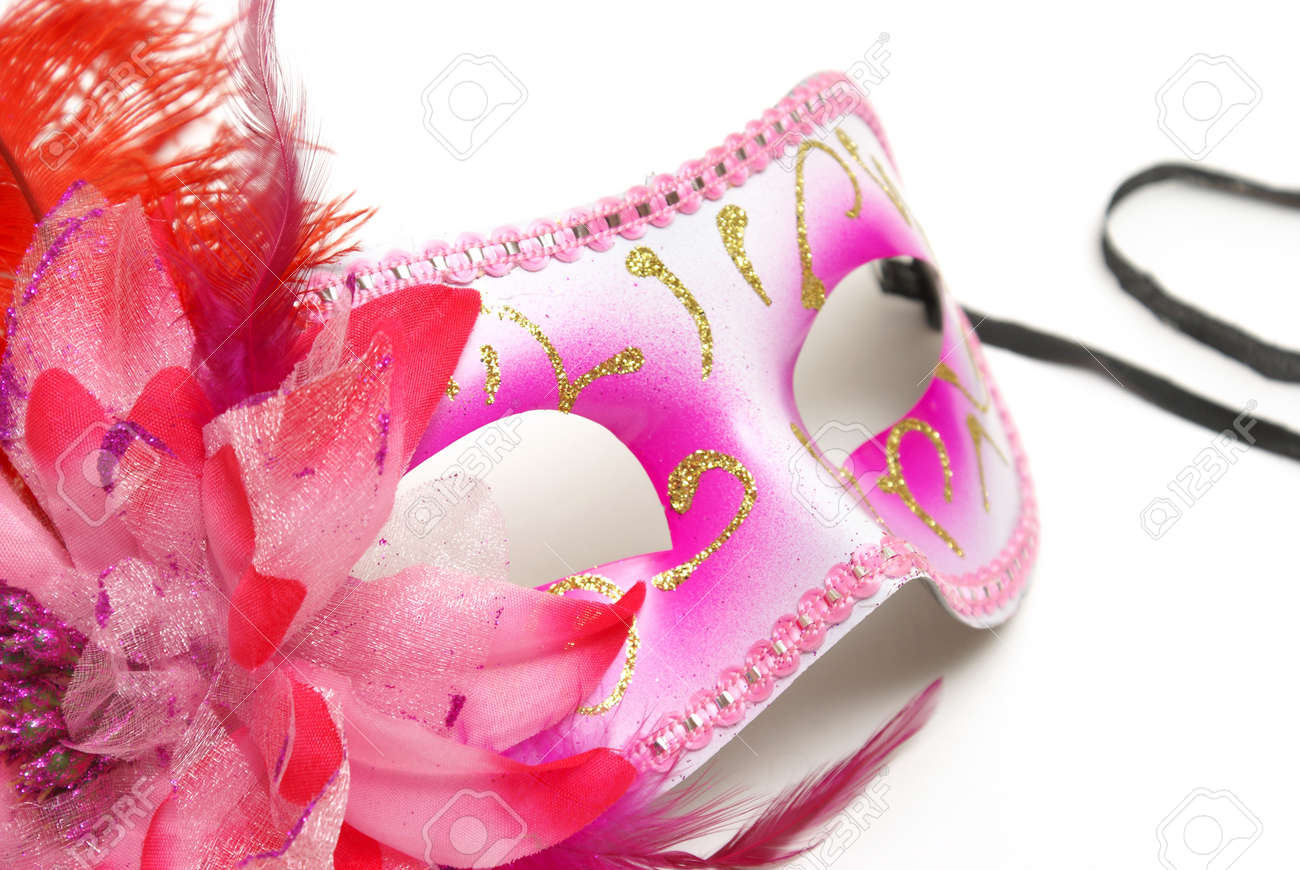 A feminine venetian mask on a white background for concealing your identity at festivities. Stock Photo - 11281220